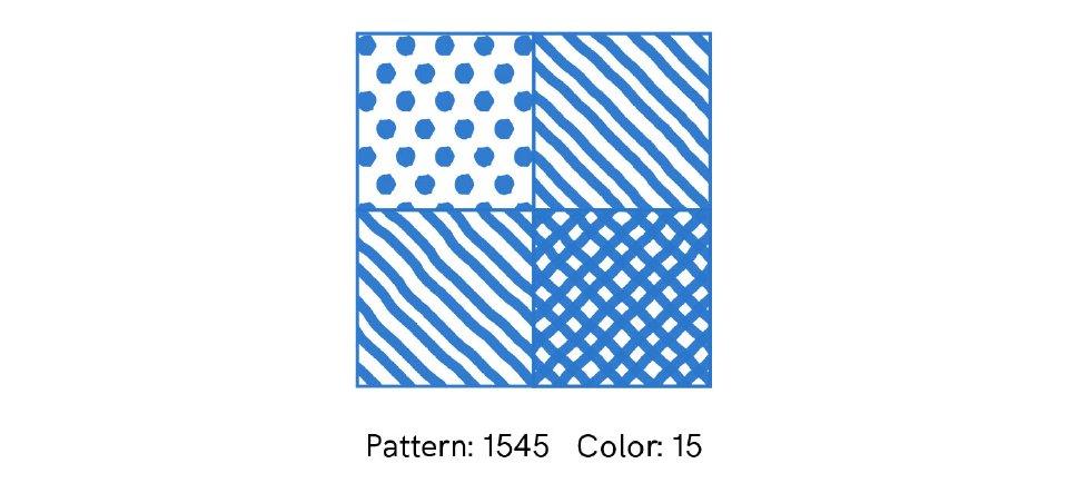 Ainsi est obtenu un motif coloré